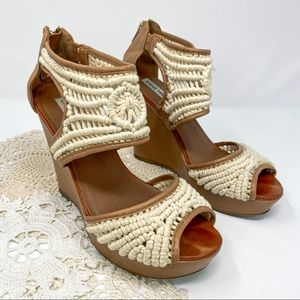 Steve Madden | Shera Natural Crochet Wedge Sandal